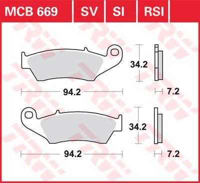 TRW SI Remblokken sinter metaal MCB669SI