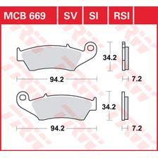 TRW SV/SH Remblokken MCB669SV