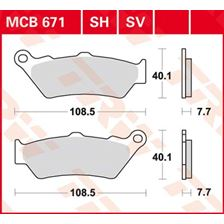 TRW Plaquettes de frein organique MCB671