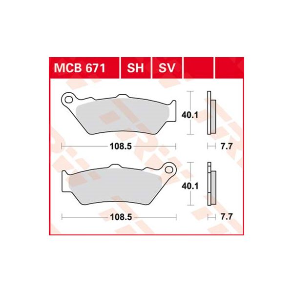 TRW Standaard remblokken MCB671