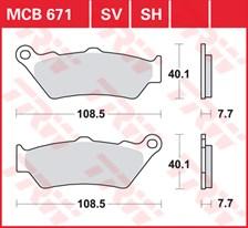 TRW Plaquettes de frein SV/SH MCB671SH