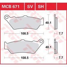 TRW SV/SH Remblokken MCB671SV
