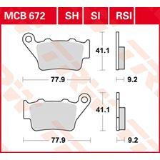 TRW SV/SH Remblokken MCB672SH