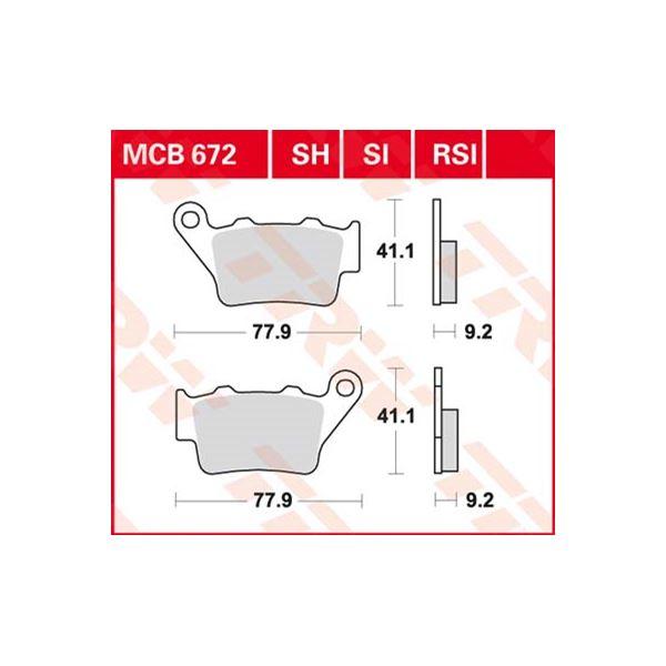 TRW Plaquettes de frein SV/SH MCB672SH