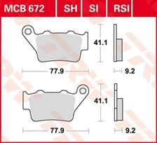 TRW Plaquettes de frein métal fritté SI MCB672SI