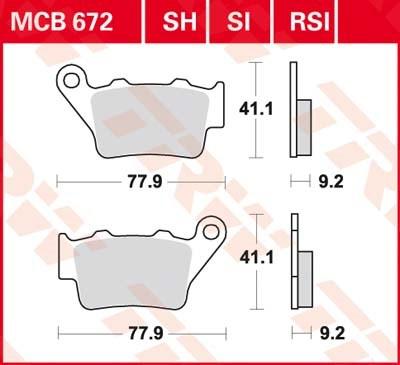 TRW SI Remblokken sinter metaal MCB672SI