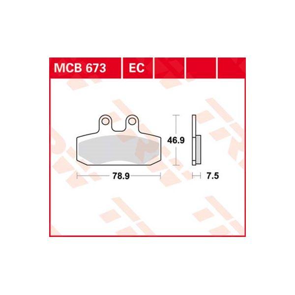 TRW Standaard remblokken MCB673