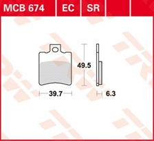 TRW Plaquettes de frein organique MCB674