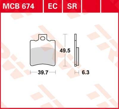 TRW Standaard remblokken MCB674