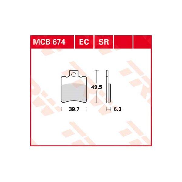 TRW Sinter metaal remblokken MCB674SR