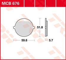 TRW Plaquettes de frein organique MCB676