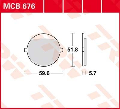 TRW Standaard remblokken MCB676