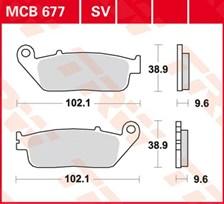TRW Plaquettes de frein organique MCB677
