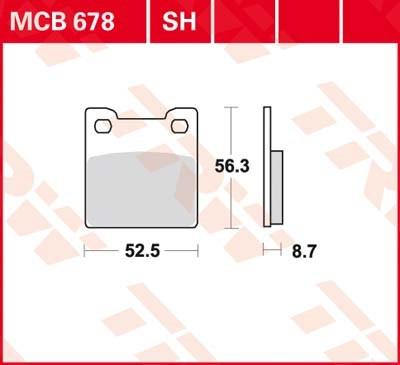 TRW SV/SH Remblokken MCB678SH