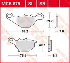 TRW Plaquettes de frein organique MCB679