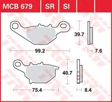TRW Plaquettes de frein métal fritté SI MCB679SI