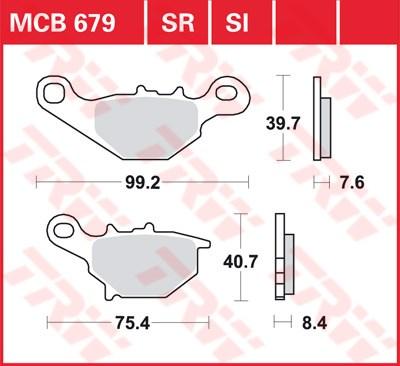 TRW SI Remblokken sinter metaal MCB679SI