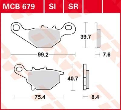 TRW Sinter metaal remblokken MCB679SR