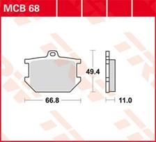 TRW Plaquettes de frein organique MCB68