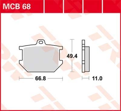 TRW Standaard remblokken MCB68