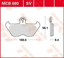 TRW Standaard remblokken MCB680