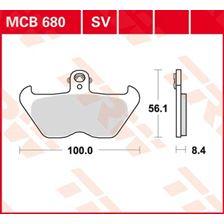 TRW Plaquettes de frein organique MCB680