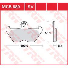 TRW Plaquettes de frein SV/SH MCB680SV