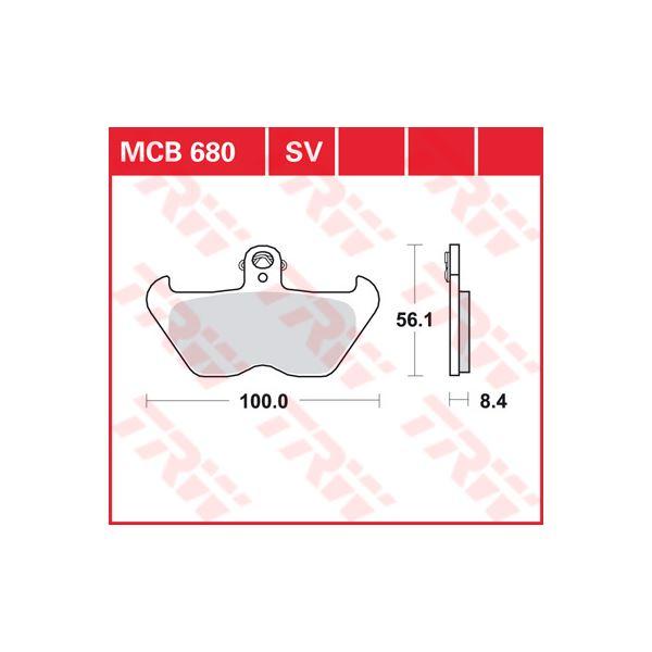 TRW SV/SH Remblokken MCB680SV