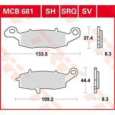 TRW Plaquettes de frein organique MCB681