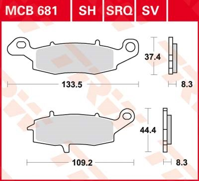 TRW SV/SH Remblokken MCB681SH