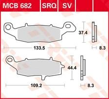 TRW Standaard remblokken MCB682