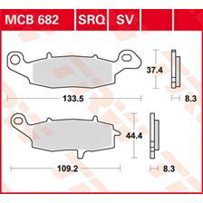 TRW Plaquettes de frein organique MCB682