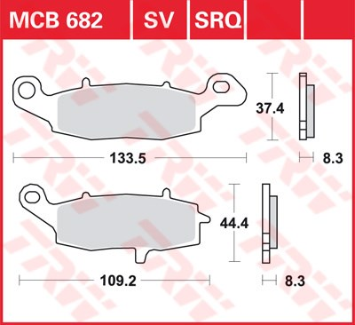 TRW SRQ remblokken MCB682SRQ