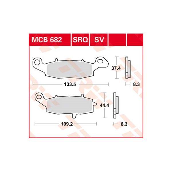 TRW SV/SH Remblokken MCB682SV