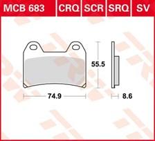 TRW Plaquettes de frein organique MCB683