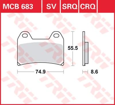 TRW CRQ remblokken MCB683CRQ