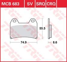 TRW Plaquettes de frein SRQ  MCB683SRQ