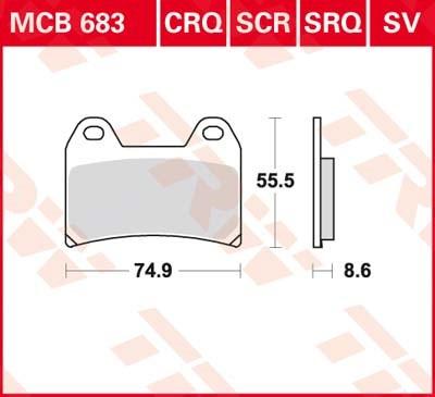 TRW SV/SH Remblokken MCB683SV