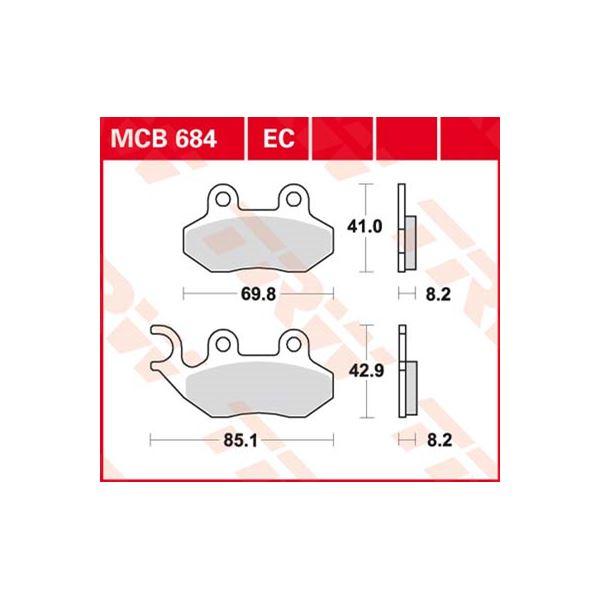 TRW Plaquettes de frein organique MCB684