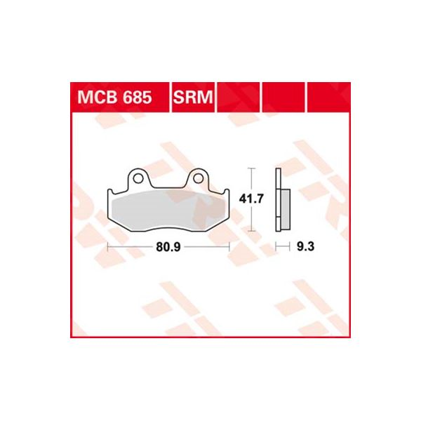TRW Standaard remblokken MCB685