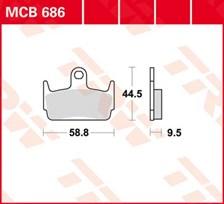 TRW Plaquettes de frein organique MCB686