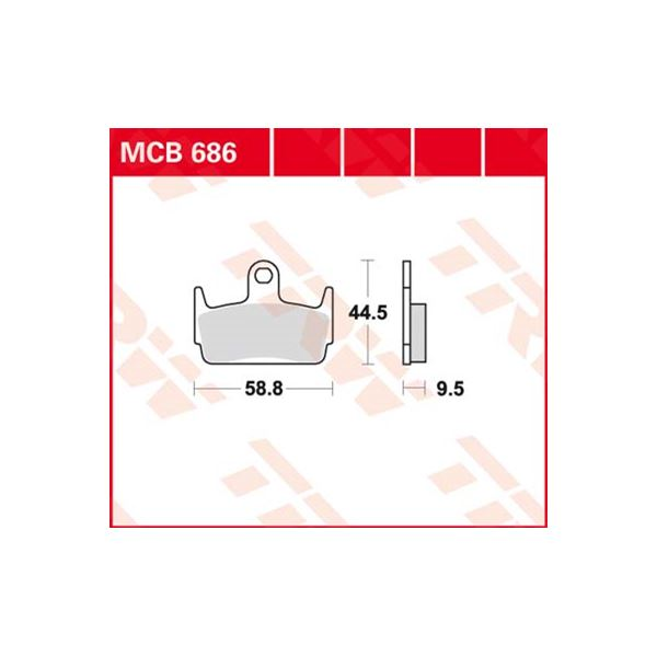 TRW Standaard remblokken MCB686