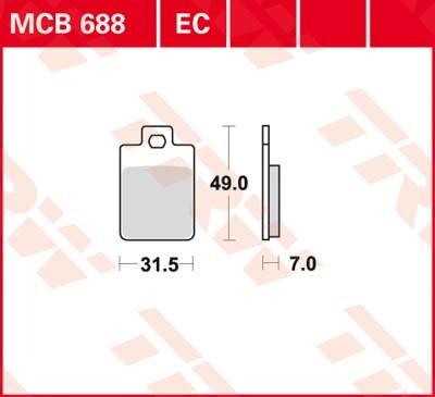 TRW Standaard remblokken MCB688