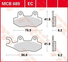 TRW Plaquettes de frein organique MCB689