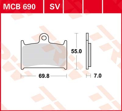 TRW Standaard remblokken MCB690