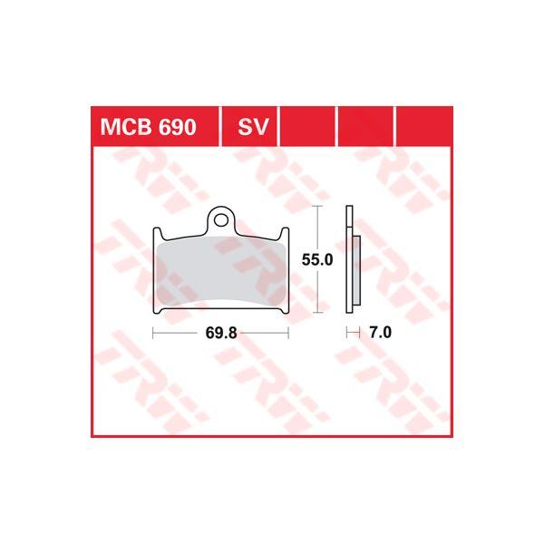 TRW SV/SH Remblokken MCB690SV
