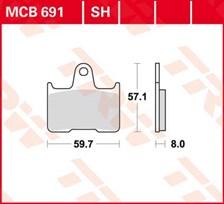 TRW Plaquettes de frein SV/SH MCB691SH
