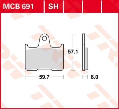 TRW SV/SH Remblokken MCB691SH