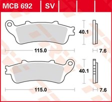 TRW Plaquettes de frein organique MCB692