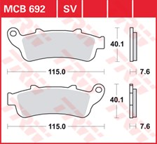 TRW Plaquettes de frein SV/SH MCB692SV